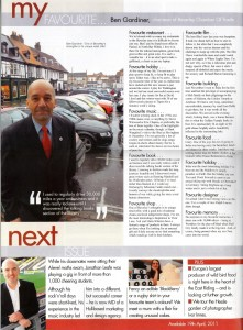 Ben Gardiner featured in East Riding Journal April 2011